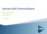 Half-year 2017 results presentation